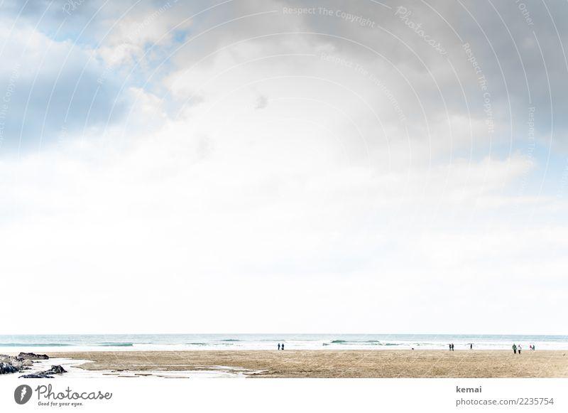 Walk on the beach Lifestyle harmonisch Wohlgefühl Zufriedenheit Sinnesorgane Erholung ruhig Freizeit & Hobby Ferien & Urlaub & Reisen Tourismus Ausflug