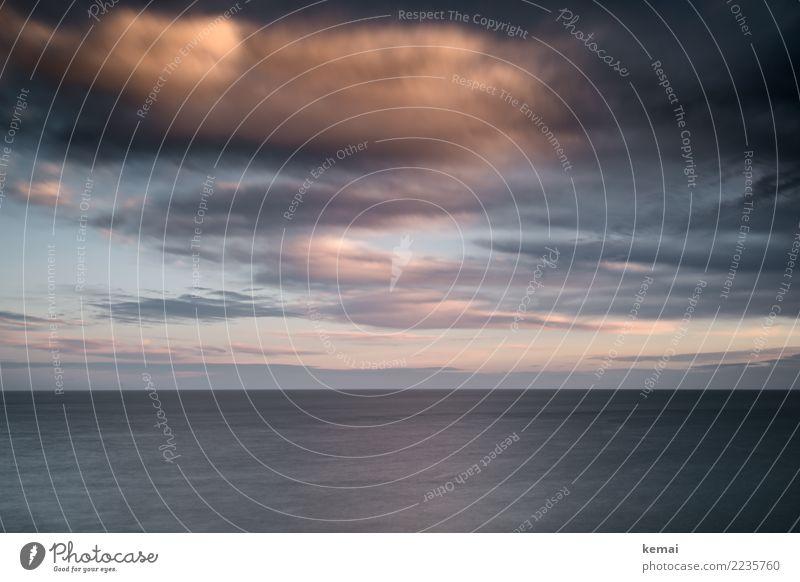 Himmel und Wasser Natur Ferien & Urlaub & Reisen blau Meer Erholung Wolken ruhig Ferne dunkel Lifestyle Umwelt Küste Freiheit rosa