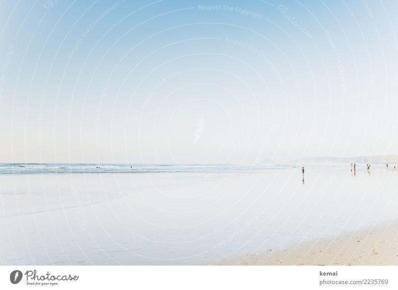 Ein Tag am Meer. Mensch Natur Ferien & Urlaub & Reisen Sommer blau schön Wasser Erholung ruhig Ferne Strand Leben Lifestyle Küste Spielen