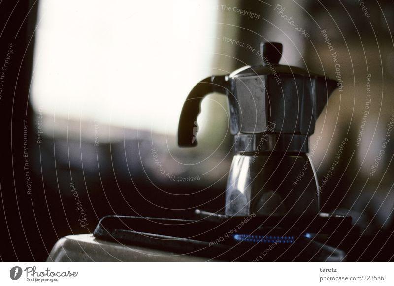 Lebenselixier dunkel glänzend ästhetisch Kaffee retro Kochen & Garen & Backen authentisch einfach Duft Nostalgie eckig Herd & Backofen Aluminium Espresso Licht