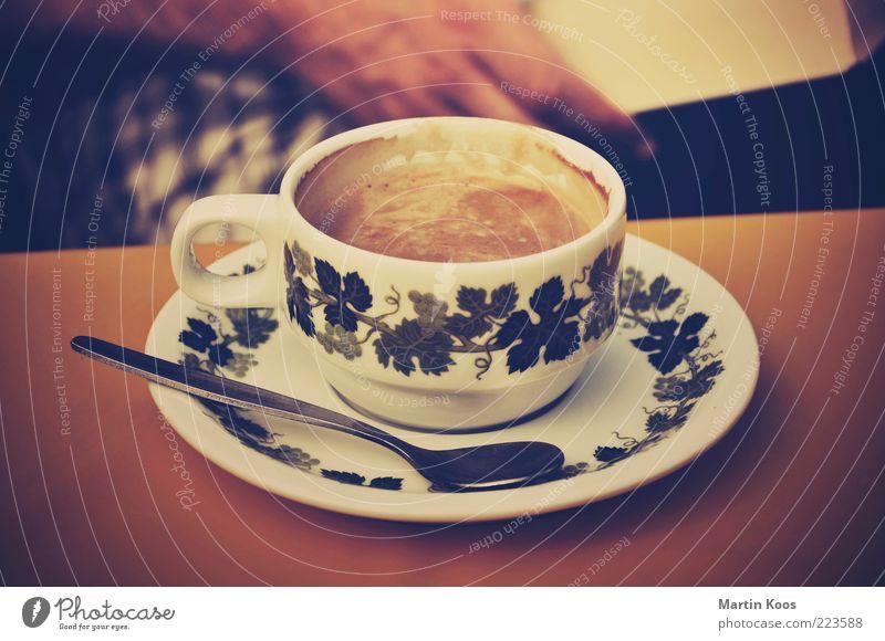 Käffchen ruhig Farbe Erholung Zufriedenheit Stimmung braun Kaffee Kitsch Freizeit & Hobby Häusliches Leben Geschirr Duft Tasse genießen Ornament Löffel
