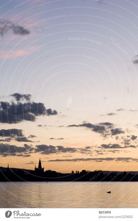 Konstanztinopel Wasser Himmel Wolken Sommer Schönes Wetter Seeufer Baden-Württemberg Europa Stadt blau gelb gold schwarz Einsamkeit Ferien & Urlaub & Reisen