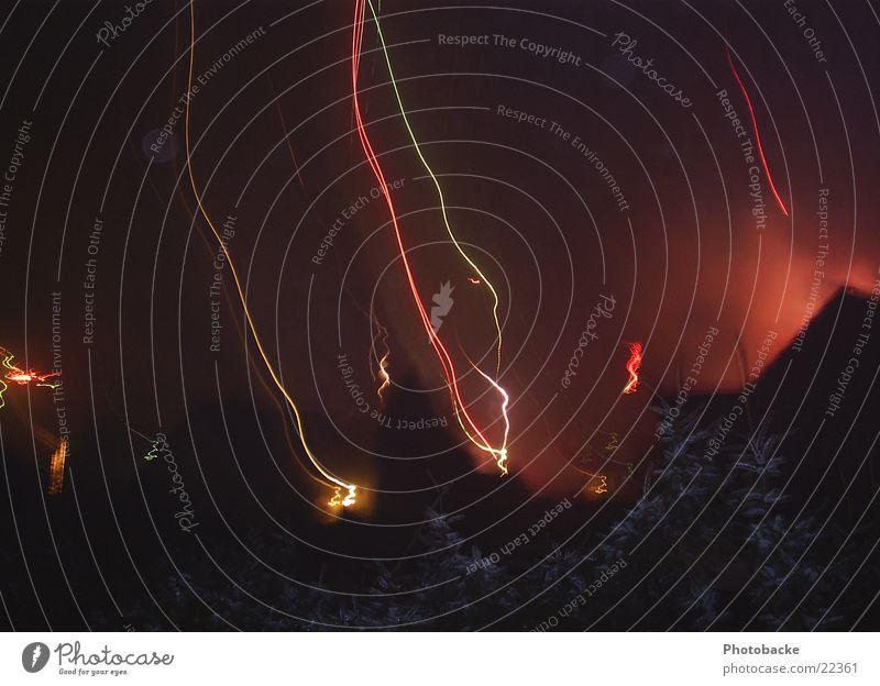 Himmelslichter I Silvester u. Neujahr Nacht Nachthimmel Party Freizeit & Hobby Feuerwerk Feste & Feiern Licht