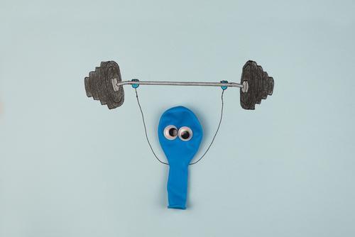 gleich ist die Luft raus Mensch Mann Gesunde Ernährung Auge Erwachsene Leben Lifestyle Gesundheit lustig Sport Kunst maskulin Kraft Erfolg Fitness