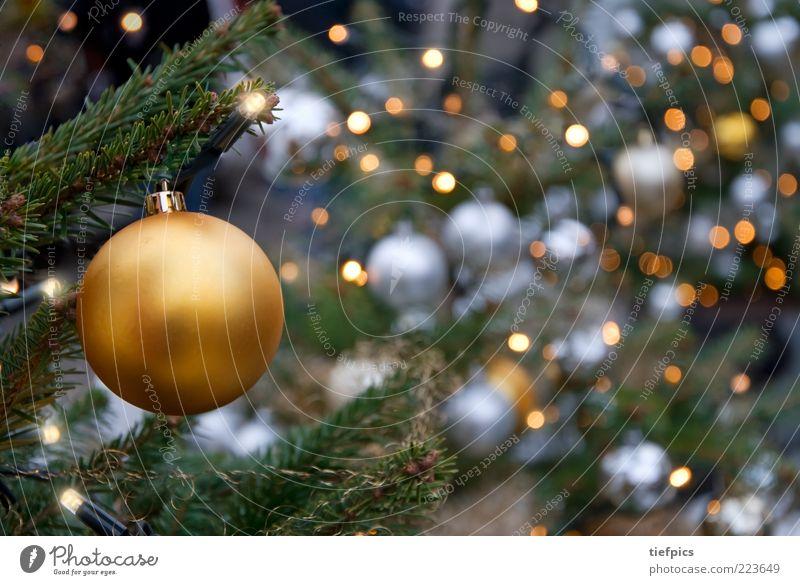 glitzer Kerze gold silber Fröhlichkeit Geborgenheit Christbaumkugel Weihnachtsbaum Lichterkette Baumschmuck Weihnachtsmarkt elektrisch Nadelbaum Tanne Fichte