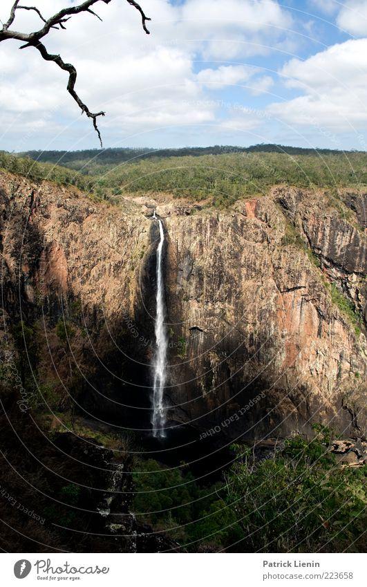 Wallaman Falls Himmel Natur Wasser Baum schön Pflanze Ferne Wald Freiheit Landschaft Umwelt Wetter Felsen Hügel Urelemente entdecken