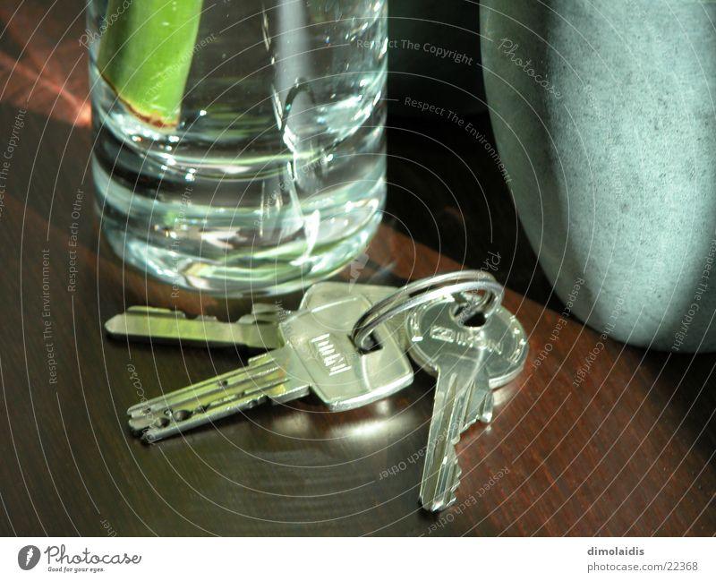schlüssel Holz Glas Tisch Schlüssel Becher Bambusrohr