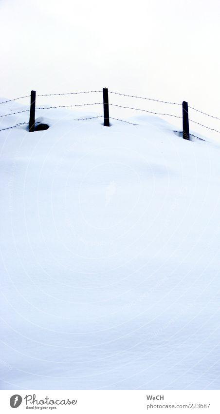 Schneehang, südliche Nordalpen Natur Winter kalt oben Landschaft Umwelt Wetter Klima Hügel Alpen Landwirtschaft Zaun Klimawandel Forstwirtschaft Stacheldraht