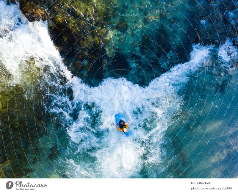 #S# Kajak Wildwasser VIII Wasser Sport Schwimmen & Baden oben Wasserfahrzeug Aktion Abenteuer gefährlich bedrohlich Fluss deutlich Wassersport extrem Strömung