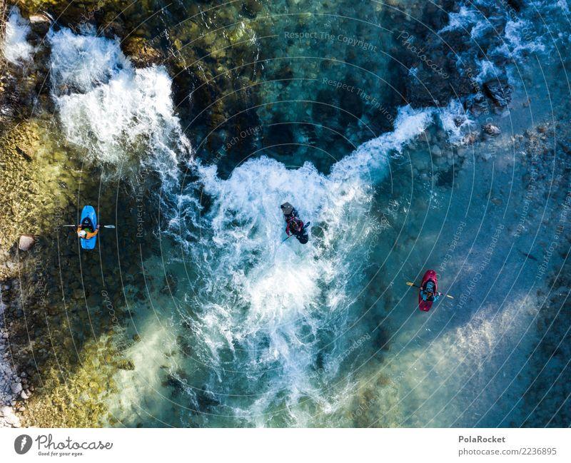 #S# Kajak Wildwasser VII Wassersport Schwimmen & Baden extrem Sport Extremsport Extremsituation Abenteuer Fluss oben Wasserfahrzeug Paddeln Strömung bedrohlich