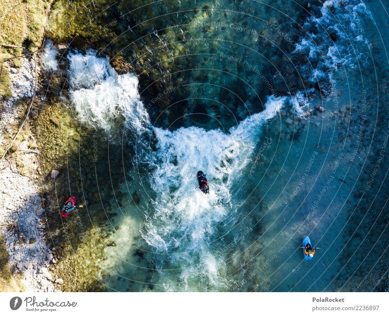 #S# Kajak Wildwasser V Wasser Menschengruppe Schwimmen & Baden oben Wasserfahrzeug Aktion Abenteuer bedrohlich Fluss deutlich Wassersport extrem Strömung