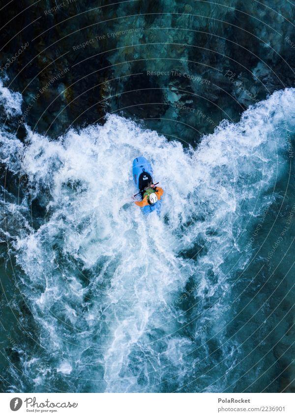 #S# Kajak Wildwasser I Wasser Sport Schwimmen & Baden oben Wasserfahrzeug Aktion Abenteuer gefährlich bedrohlich Fluss deutlich Wassersport extrem Strömung