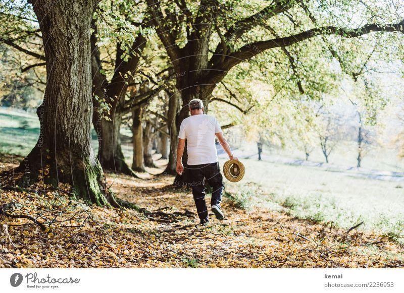Ein Mann geht Lifestyle Leben harmonisch Wohlgefühl Zufriedenheit Sinnesorgane Erholung ruhig Freizeit & Hobby Ausflug Abenteuer Freiheit wandern Mensch