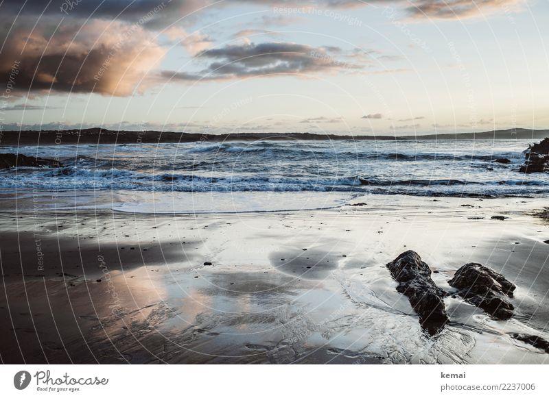 Beach evening harmonisch Wohlgefühl Zufriedenheit Sinnesorgane Erholung ruhig Freizeit & Hobby Ferien & Urlaub & Reisen Tourismus Ausflug Abenteuer Ferne