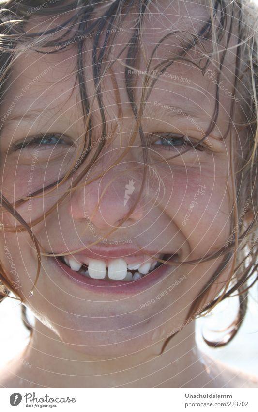 ....love your smile Mensch Kind Freude Sommer Ferien & Urlaub & Reisen Gesicht Leben Junge Gefühle Glück Haare & Frisuren lachen nass frisch Fröhlichkeit
