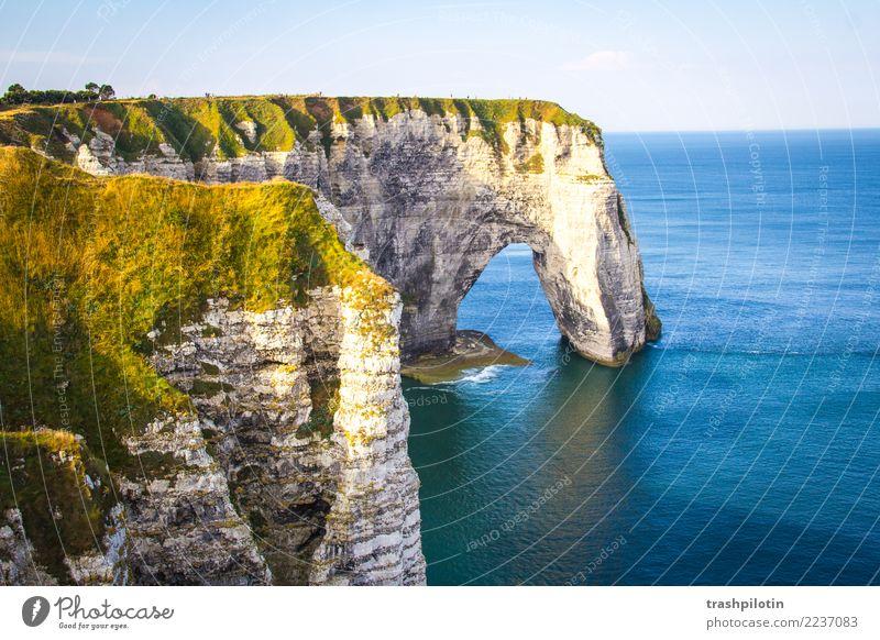 Etretat Aida Canon 60d Metropolen1 Nordsee Étretat Frankreich Normandie Landschaft Kreidefelsen Meer Herbst Natur