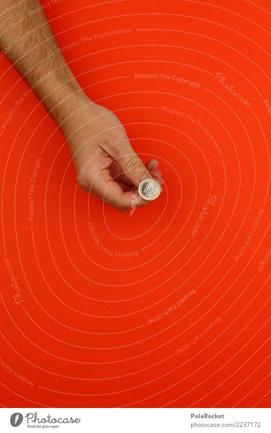 #AS# Kopf oder Zahl? Hand Kunst Glück 1 orange ästhetisch Kunstwerk sparen Euro Daumen Eurozeichen Geldmünzen Spieler Glücksspiel spielerisch Glücksspieler