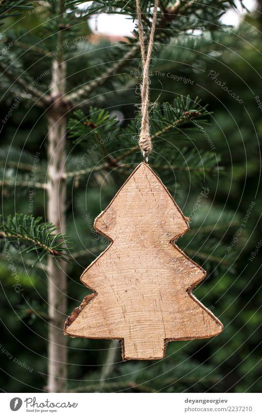 Weihnachtstannenform auf Niederlassung Winter Dekoration & Verzierung Tisch Feste & Feiern Weihnachten & Advent Baum Holz Ornament neu grün weiß Tradition Tanne