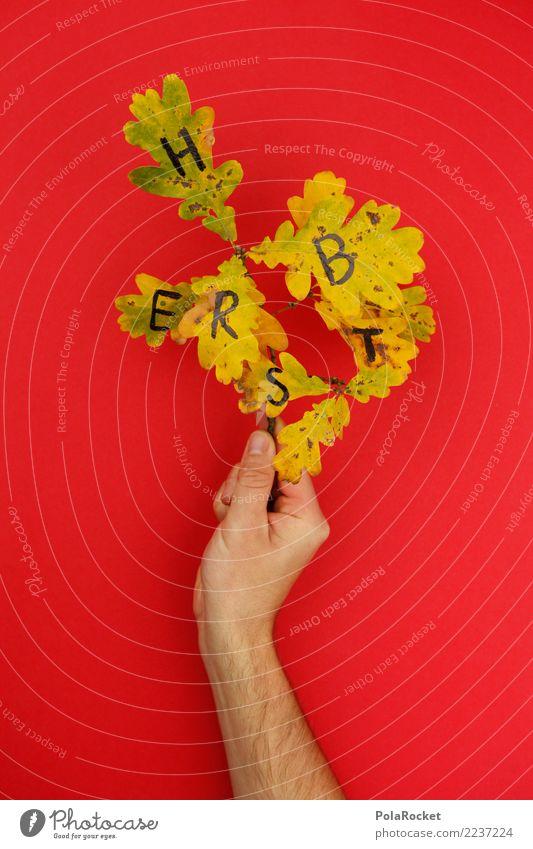 #AS# H E R B S T Blatt Herbst Kunst ästhetisch Kreativität Buchstaben Herbstlaub herbstlich bemalt Herbstfärbung Herbstbeginn Herbstwald Herbstwetter