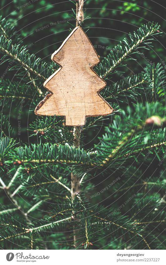 Weihnachtstannenform auf Niederlassung Design Winter Dekoration & Verzierung Feste & Feiern Weihnachten & Advent Natur Baum Papier Holz neu grün weiß Tanne