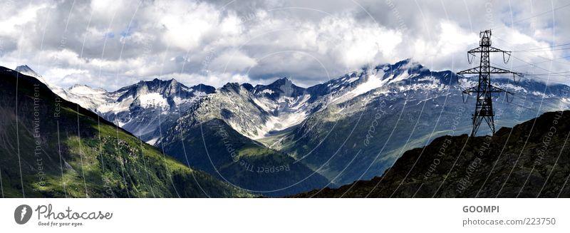 Elektrischer Berg in der Schweiz Natur Landschaft Wolken Sommer Schönes Wetter Berge u. Gebirge natürlich blau Farbfoto Außenaufnahme Menschenleer Tag Schatten