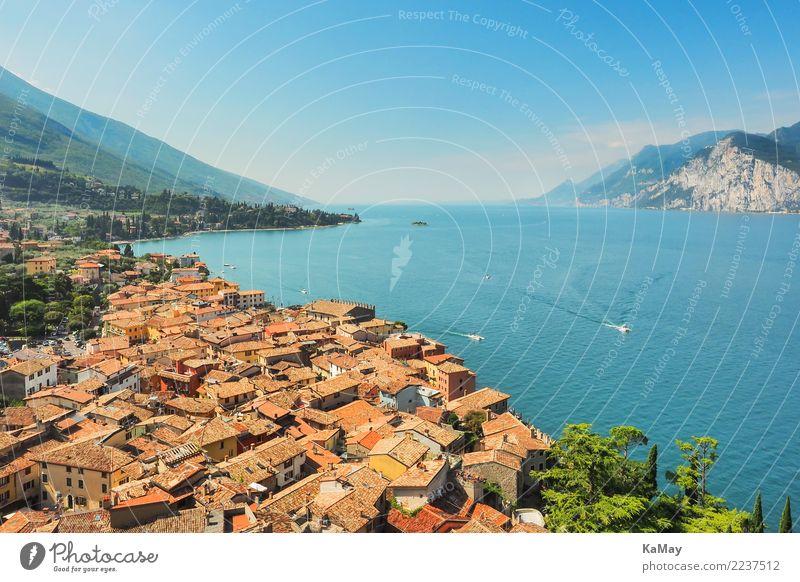 Malcesine am Gardasee Himmel Natur Ferien & Urlaub & Reisen Sommer Stadt Wasser Landschaft Haus Berge u. Gebirge Architektur Küste Tourismus See Europa