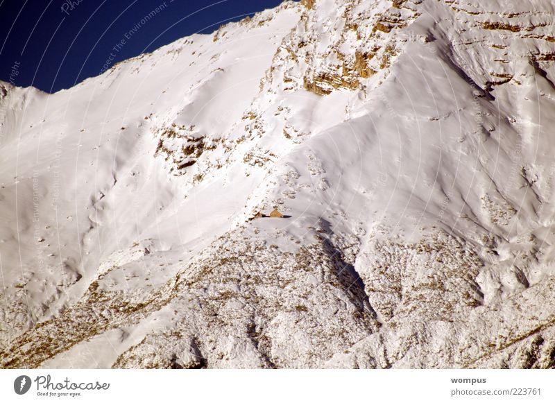 Winterbeginn im Hochgebirge Schnee Berge u. Gebirge Landschaft Felsen Alpen Schönes Wetter Berghang