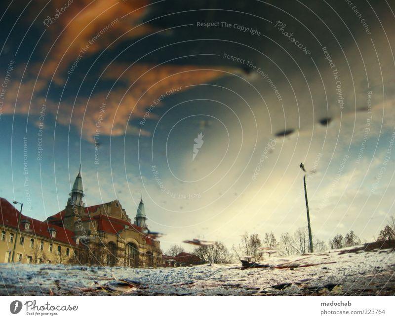 Schlittschuh Me Too Himmel schön Stadt Wolken Winter Haus Farbe kalt Schnee Berlin Gefühle Umwelt träumen Gebäude Stimmung elegant