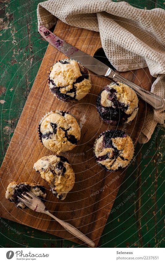 süßes Frühstück Lebensmittel Frucht Teigwaren Backwaren Kuchen Dessert Süßwaren Muffin Blaubeeren Ernährung Essen Kaffeetrinken Picknick genießen lecker