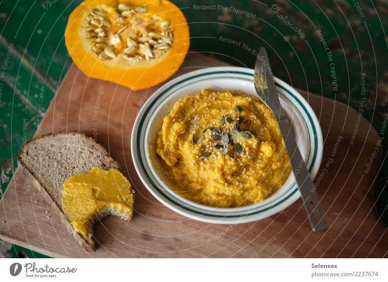 orange aufs Brot Essen Gesundheit Lebensmittel Ernährung frisch lecker Gemüse Bioprodukte Abendessen Diät Vegetarische Ernährung Fasten Kürbis Vegane Ernährung