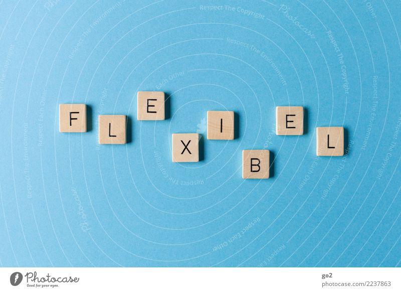 Flexibel blau Spielen Schriftzeichen Kommunizieren Kreativität Zukunft Idee Wandel & Veränderung planen Inspiration Dienstleistungsgewerbe