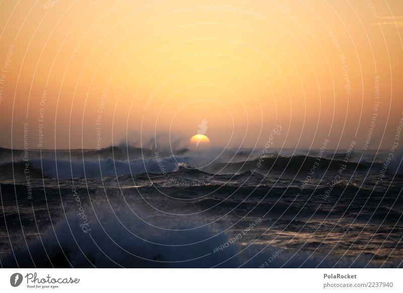 #AS# Stürmische See Kunst Kunstwerk ästhetisch Meer Wellen Wellengang Wellenform Wellenschlag Wellenkuppe Wellental Sturm Sonnenuntergang