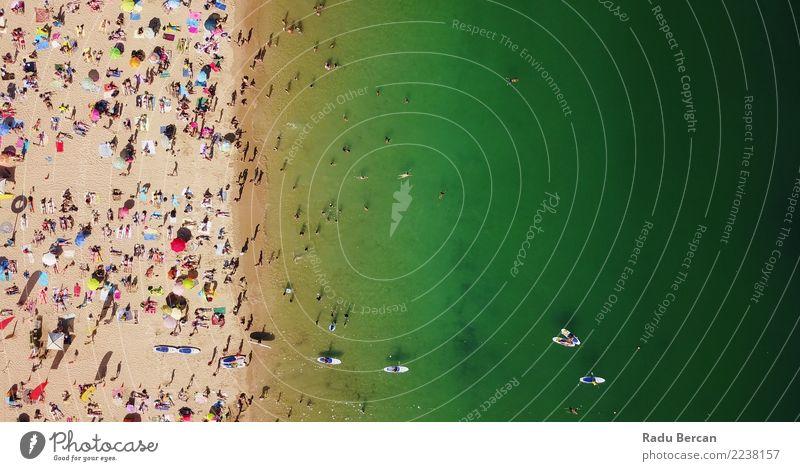 Mensch Natur Ferien & Urlaub & Reisen Sommer Wasser Landschaft Meer Erholung Strand Wärme Lifestyle Umwelt Küste Tourismus Freiheit Menschengruppe