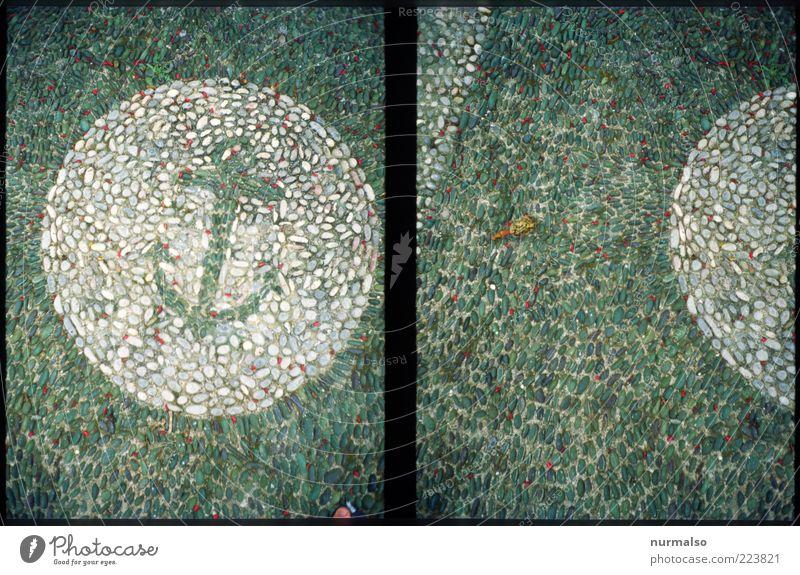 Seemannspuzzle Wege & Pfade Zeichen eckig nass trashig Stimmung Identität einzigartig stagnierend Wandel & Veränderung Schifffahrt Anker Mosaik