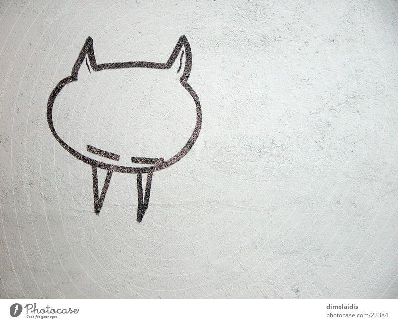 vampire Vampir Teufel Wand Putz Reykjavík schlafen Makroaufnahme Nahaufnahme grafitti Gebiss Grafik u. Illustration zeichnen streichen