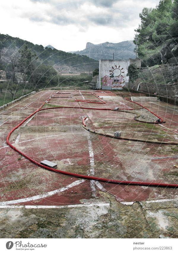 Sweet alt grün Baum rot Wolken ruhig Sport Graffiti Berge u. Gebirge grau Stein dreckig Beton Platz außergewöhnlich trist
