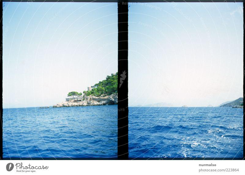 2mal mehr Natur Sommer Ferien & Urlaub & Reisen Meer Ferne Freiheit Landschaft Küste Stimmung Kunst Wellen Ausflug Insel Unendlichkeit Schönes Wetter Schifffahrt