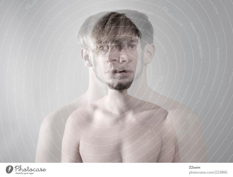dream Mensch Jugendliche kalt nackt grau Kopf träumen Erwachsene Körper blond Zufriedenheit Zeit maskulin trist einzigartig Brust