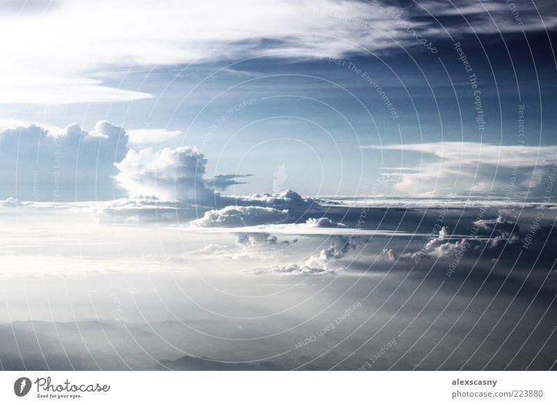 Airbrushhimmel... Ferien & Urlaub & Reisen Ferne Luft Himmel Wolken Sonnenlicht Sommer Wetter Hügel authentisch schön blau weiß Gelassenheit Hoffnung Sehnsucht