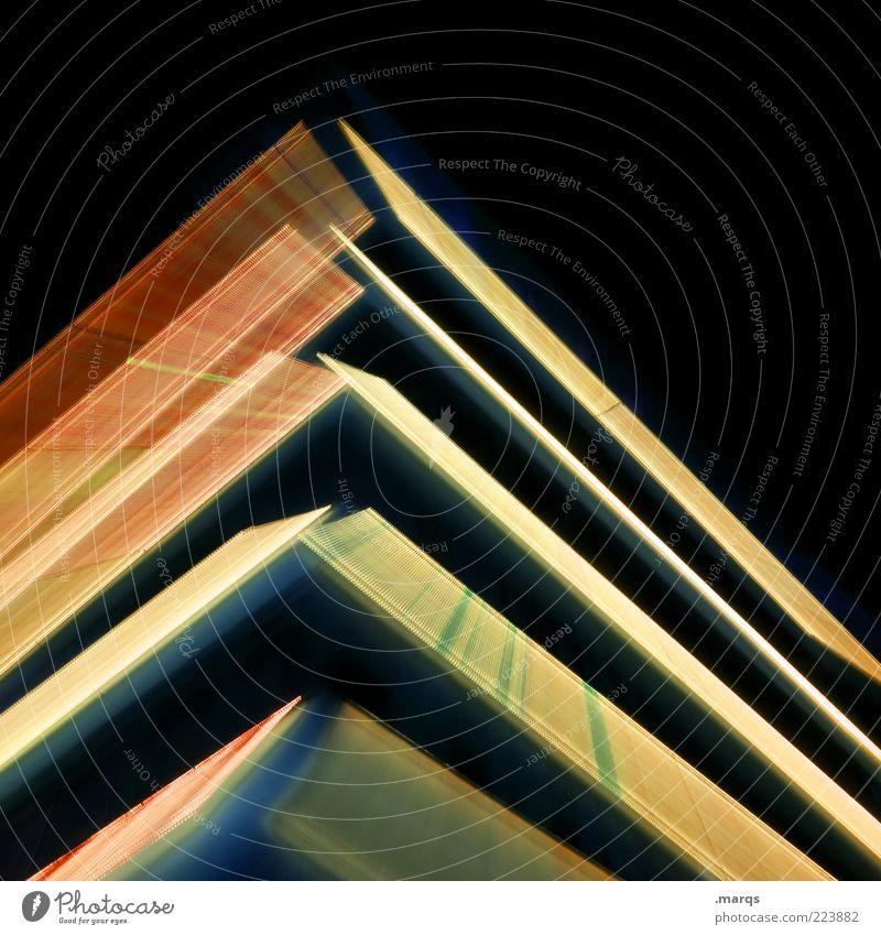 Christmas Tree Stil Architektur elegant Fassade Design Hochhaus Lifestyle Zukunft Streifen Bankgebäude leuchten Haus Bürogebäude Bewegungsunschärfe Illumination