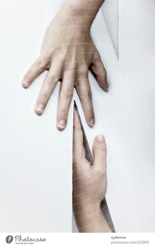 Typografie zum anfassen Mensch Hand weiß Leben Gefühle Stil Design Finger ästhetisch lernen Schriftzeichen Lifestyle Buchstaben einzigartig Bildung Neugier