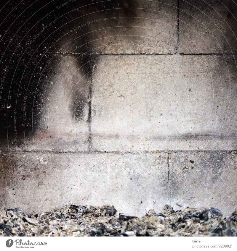 Après Carl Wand Stein Brand Feuer authentisch brennen Kamin heizen Feuerstelle Brandasche Holzkohle Ruß