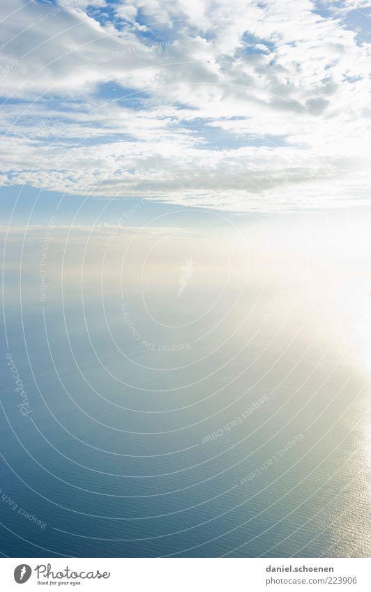 Costa de la Luz Wasser weiß schön blau Sommer Meer Ferien & Urlaub & Reisen Freiheit hell Schönes Wetter Wolkenhimmel
