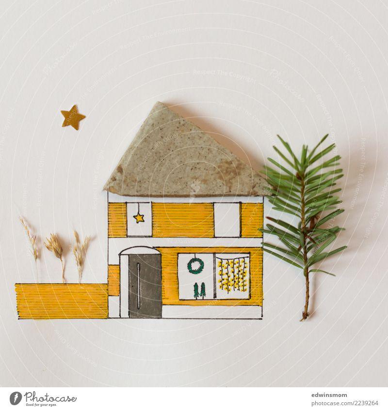 Christmas is coming Freizeit & Hobby Basteln Haus Traumhaus Garten Dekoration & Verzierung Weihnachten & Advent Natur Herbst Winter Einfamilienhaus Papier Stern