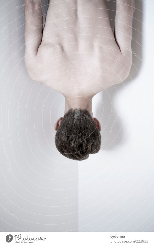 Geometrie/ Anatomie schön Körper Haare & Frisuren Haut ruhig Mensch Junger Mann Jugendliche ästhetisch geheimnisvoll Idee kalt Leben nackt skurril stagnierend