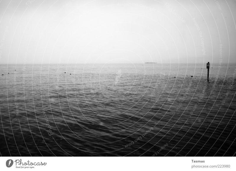 Oceans & Streams Wasser schlechtes Wetter Unwetter Nebel Wellen See Zürich See Sehnsucht Heimweh Fernweh kalt ruhig Schwarzweißfoto Außenaufnahme Menschenleer