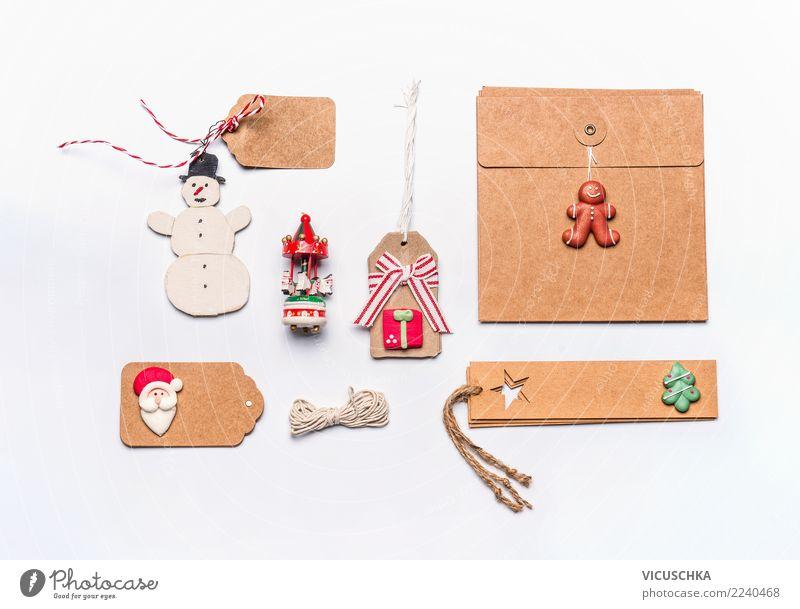 Weihnachten Stillleben auf weiß Design Ferien & Urlaub & Reisen Winter Schreibtisch Feste & Feiern Weihnachten & Advent Dekoration & Verzierung Zeichen Ornament