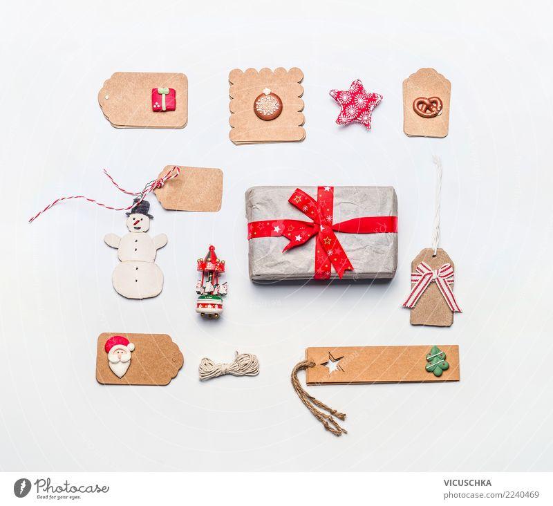 Weihnachtsgeschenk Verpackung Stillleben Weihnachten & Advent Winter Feste & Feiern Design Dekoration & Verzierung Kreativität Geschenk kaufen Papier Zeichen