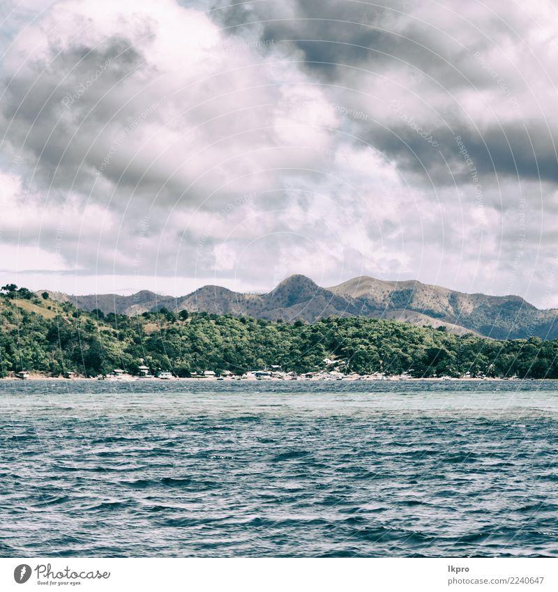 Himmel Natur Ferien & Urlaub & Reisen Pflanze blau Sommer Farbe schön grün weiß Landschaft Baum Meer Wolken Berge u. Gebirge schwarz
