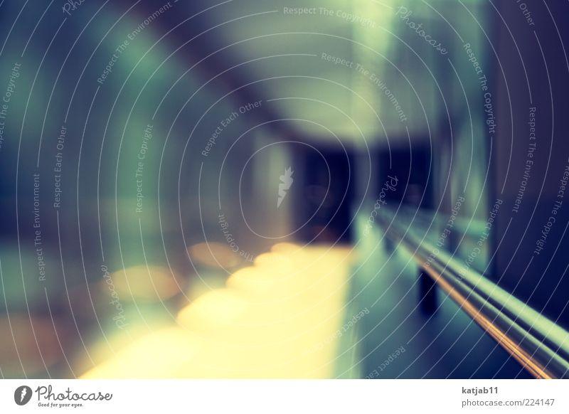 ** Architektur Metall glänzend Design ästhetisch modern Ziel Sauberkeit Stahl Tunnel Verbindung Geländer Gang Unschärfe